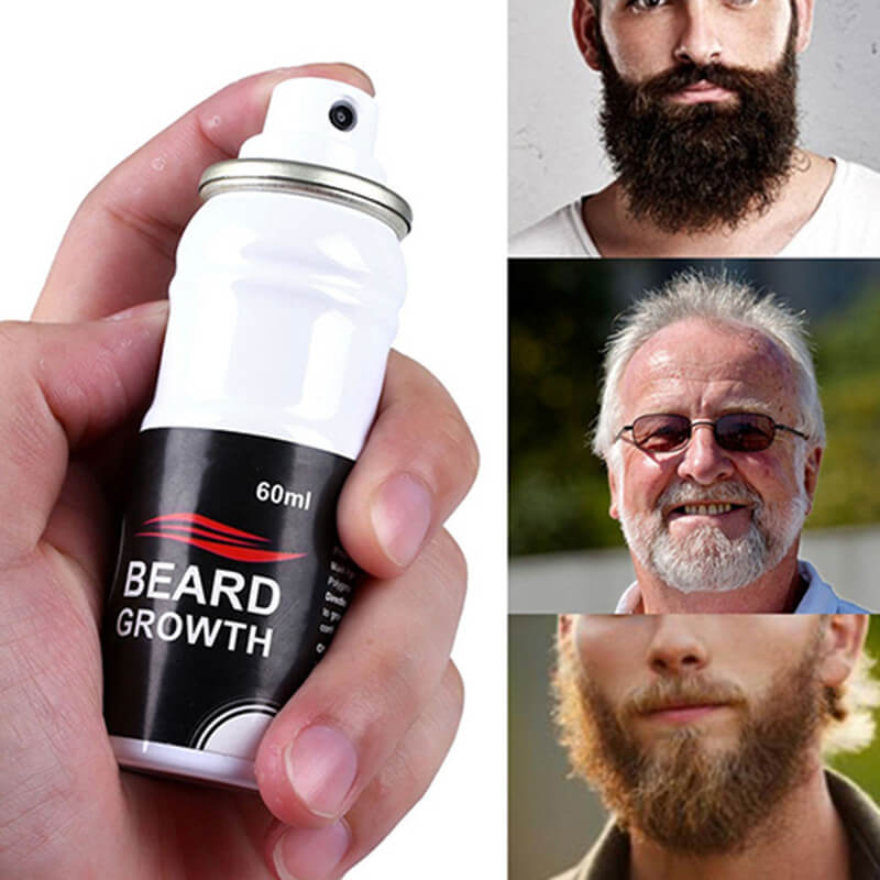 Beard Growth Spray - Buy Online 100% All-Natural Solution to Improved  Facial Hair Growth 60ml